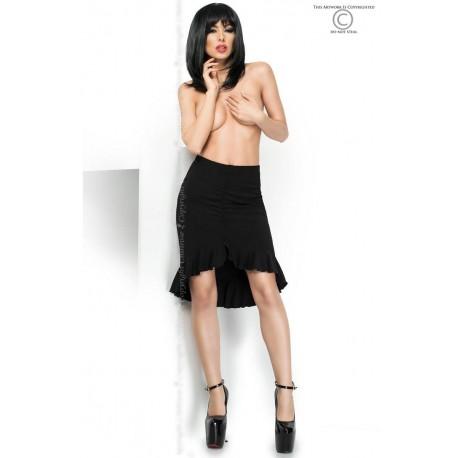 Black ruffles skirt CR-3817 Chilirose wholesaler DBH Creations