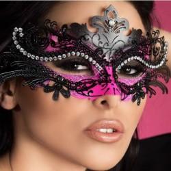 Masque noir et rose en métal CR-3993 Chilirose grossiste DBH Creations