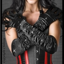 Black satin gloves CR-3221 Chilirose wholesaler DBH Creations