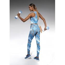 Energy legging sport bleu Bas Bleu Sport DBH Créations