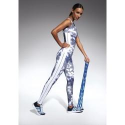 Code legging sport bleu et blanc Bas Bleu Sport grossiste DBH Créations