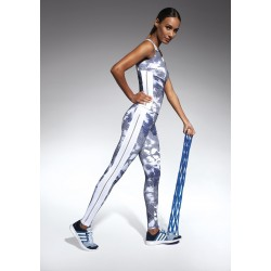 Code sport legging white and blue Bas Bleu wholesaler DBH Créations