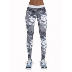 Code legging sport gris et blanc Bas Bleu Sport grossiste DBH Créations