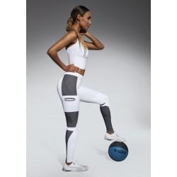 Passion legging sport blanc Bas Bleu Sport DBH Créations