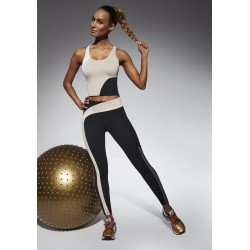 Flow sport legging black and beige Bas Bleu wholesaler DBH Créations