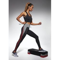 Extreme sport legging black and red Bas Bleu wholesaler DBH Créations