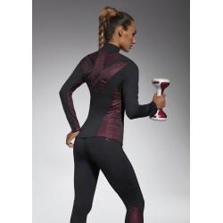 Inspire sweat sport noir et rose Bas Bleu Sport DBH Créations