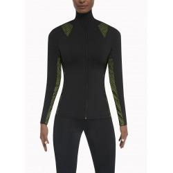 Inspire sweat sport noir et vert