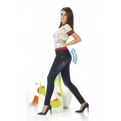 Maddie legging jean bleu foncé Bas Bleu grossiste DBH Creations