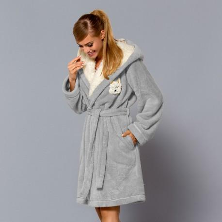 Abi Crystal grey dressing gown