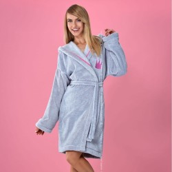Leila grey dressing gown