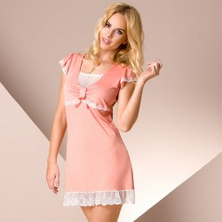 Short coral nightdress