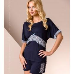 Pyjama short bleu marine