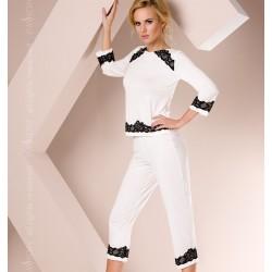 Pyjama court blanc