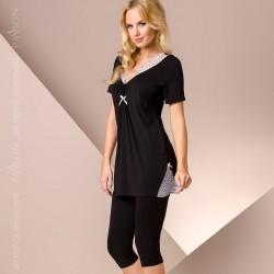 Pyjama court noir