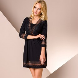 Black short nightdress