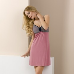 Short pink and grey nightdress