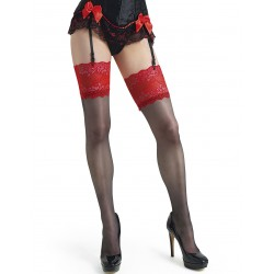 Adriana bas noir et rouge LeggStory grossiste DBH Creations