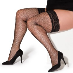 Christina black fishnet stockings XTra Size
