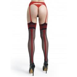 Melissa bas noir et rouge LeggStory grossiste DBH Creations