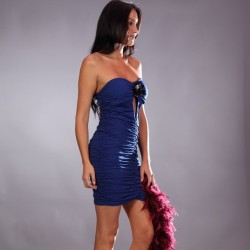 Robe bustier bleue grossiste DBH Créations