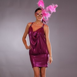 Fushia dress wholesaler De Bas En Haut Creations