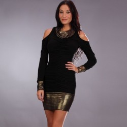 Black and gold dress wholesaler De Bas En Haut Creations