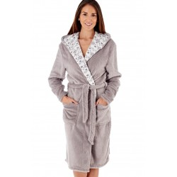 Grey soft dressing gown