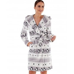 Dressing gown with pinguins