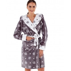Dressing gown with snowflakes