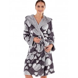 Dressing gown with hearts