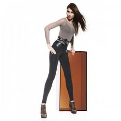 Legging avec large ceinture effet cuir