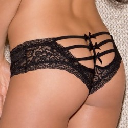 Black lace shorty wholesaler De Bas En Haut Creations
