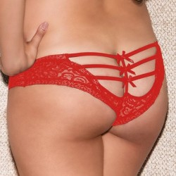 Shorty dentelle rouge