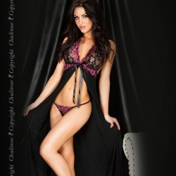 Black long babydoll CR-3461 Chilirose wholesaler DBH Creations