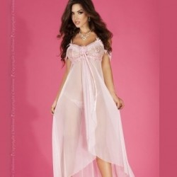Long pink babydoll CR-3716 Chilirose wholesaler DBH Creations