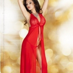 Babydoll long rouge