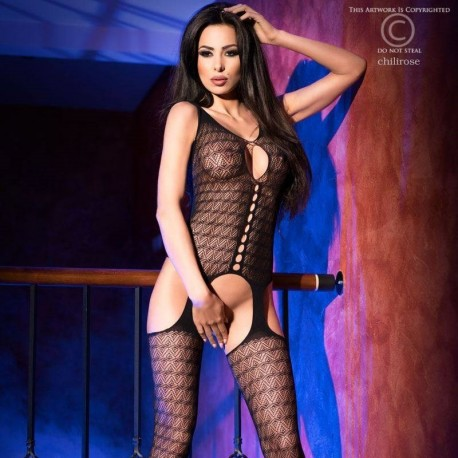 Bodystocking avec motifs CR-4057 Chilirose grossiste DBH Creations