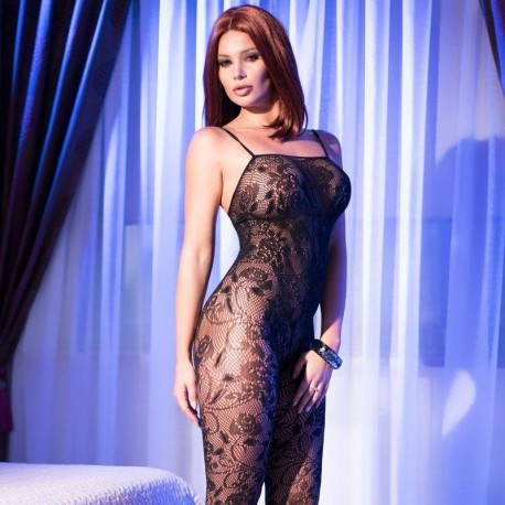 Bodystocking dentelle CR-4097 Chilirose grossiste DBH Creations