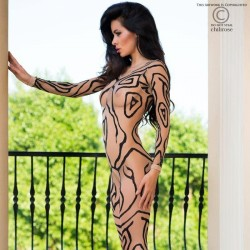Bodystocking effet tatoo CR-4092 Chilirose grossiste DBH Creations