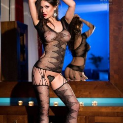 Black sexy bodystocking CR-4051 Chilirose wholesaler DBH Creations