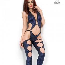 Combinaison clubwear bleue