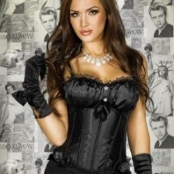 Corset satin noir CR-3293 Chilirose grossiste DBH Creations
