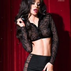 Black lace set CR-4046 Chilirose wholesaler DBH Creations