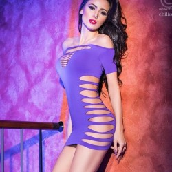 Purple sexy dress CR-4169 Chilirose wholesaler DBH Creations