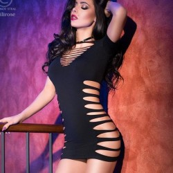 Robe clubwear noire CR-4169 Chilirose grossiste DBH Creations