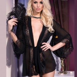 Black lace kimono CR-4113 Chilirose wholesaler DBH Creations