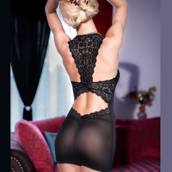 Black babydoll with back in lace CR-4147 Chilirose wholesaler DBH Creations