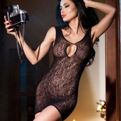 Fishnet dress with patern CR-4056 Chilirose wholesaler DBH Creations
