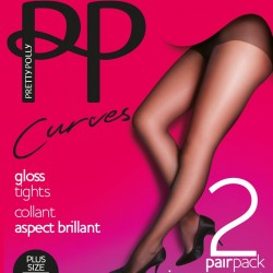 Large size tights - Pack of 2 PNEUN3 Pretty Polly wholesaler DBH Creations